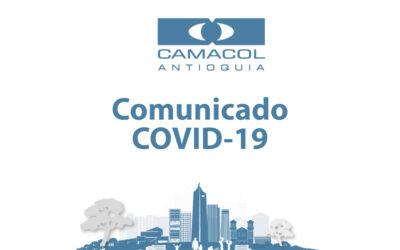 Camacol Antioquia informa sobre reactivación gradual del sector construcción y sobre la implementación de los  protocolos para preservar la salud de los trabajadores y sus familias.